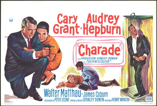 Charade Belgian movie poster