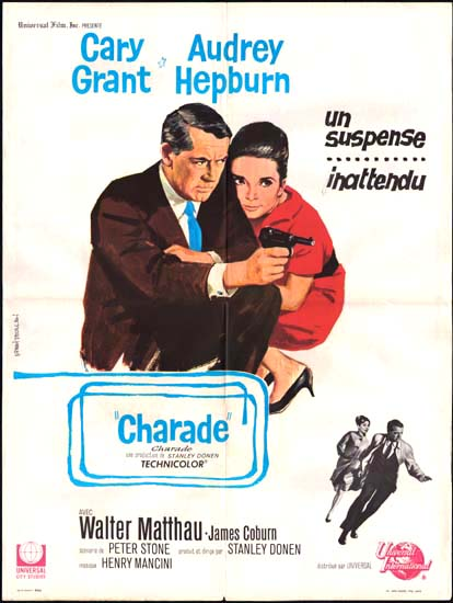 Charade French movie poster