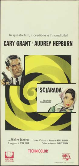 Charade Italian Locandina movie poster