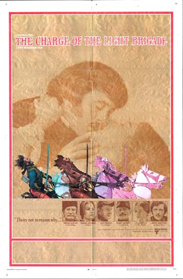 Charge of the Light Brigade, The US One Sheet movie poster