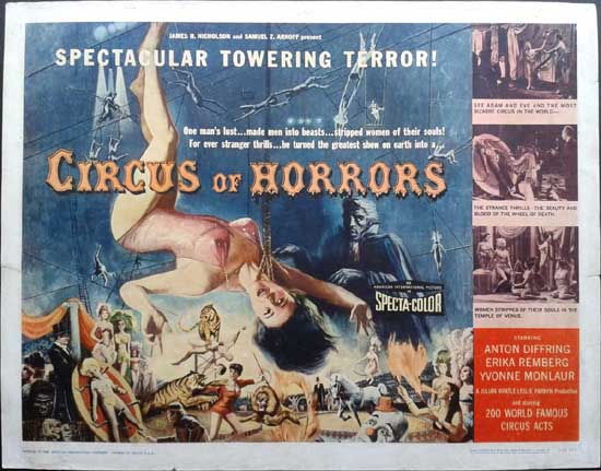 Circus of Horrors US Half Sheet movie poster