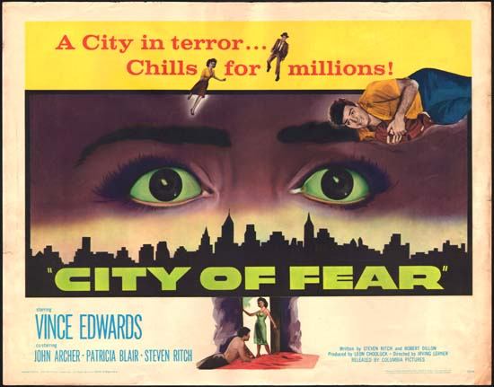 City of Fear US Half Sheet movie poster