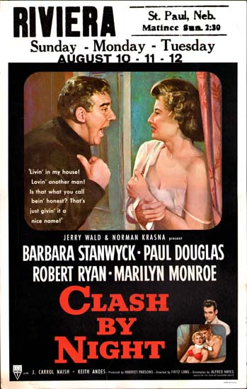 Clash By Night US Window Card movie poster