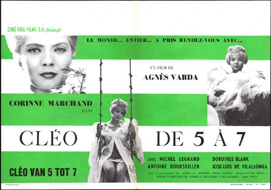 Cleo de 5 a 7 [ Cleo from 5 to 7 ] Belgian movie poster
