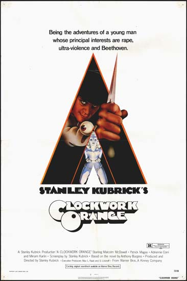 Clockwork Orange, A US One Sheet movie poster