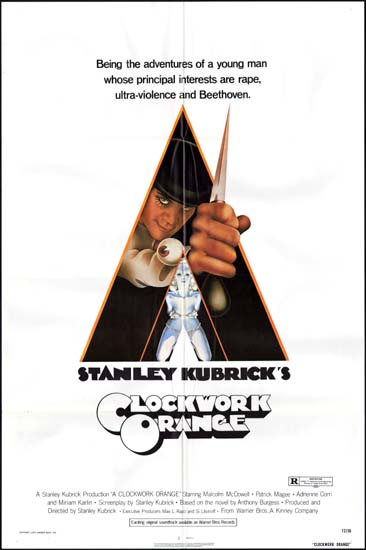 Clockwork Orange, A US One Sheet movie poster