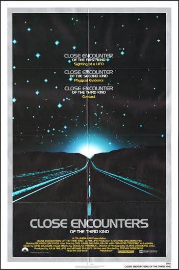 Close Encounters of the Third Kind US One Sheet movie poster