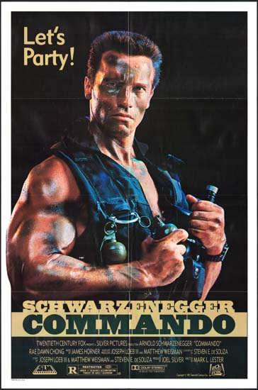 Commando US One Sheet lets party style movie poster