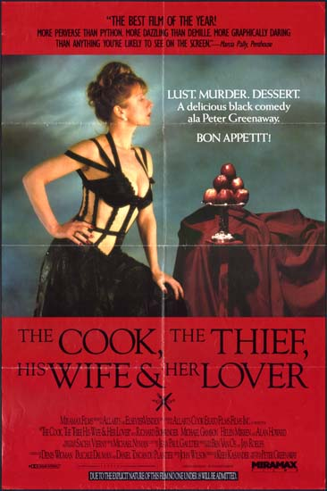 Cook the Thief His Wife and Her Lover, The US One Sheet movie poster