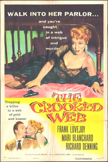 Crooked Web, The US One Sheet movie poster