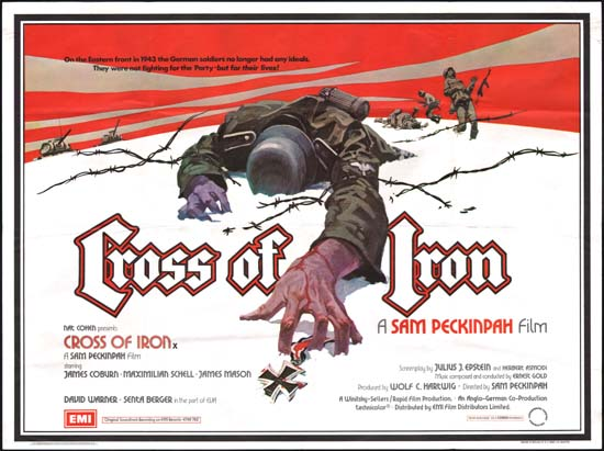 Cross of Iron UK Quad movie poster