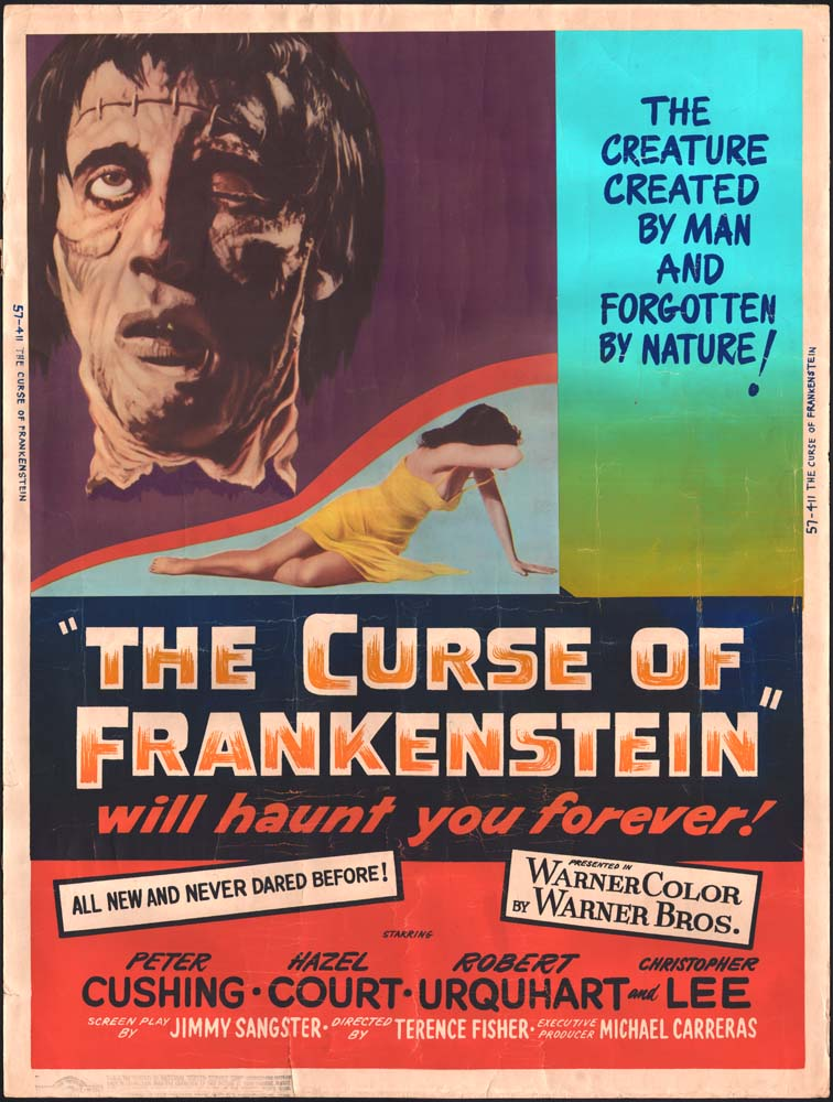 Curse of Frankenstein, The US 30x40 movie poster