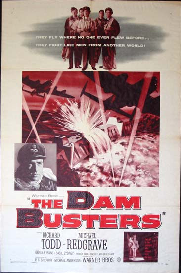 Dam Busters, The [ The Dambusters ] US One Sheet movie poster