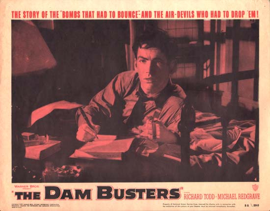 Dam Busters, The [ The Dambusters ] US Lobby Card number 4