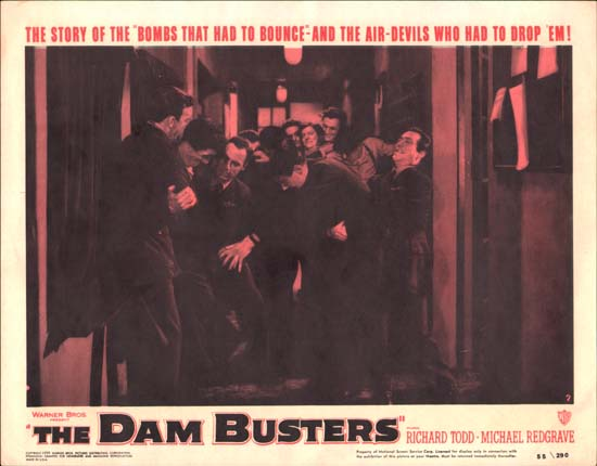 Dam Busters, The [ The Dambusters ] US Lobby Card number 7