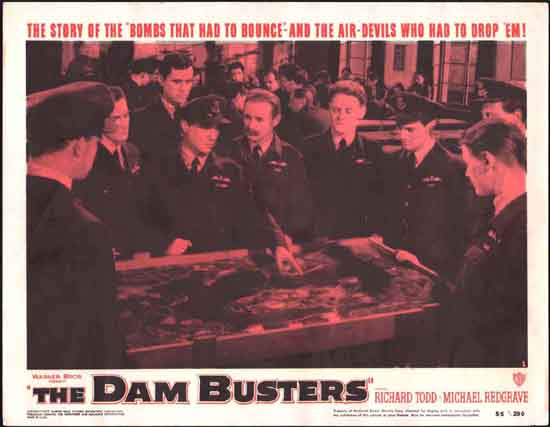 Dam Busters, The [ The Dambusters ] US Lobby Card number 1