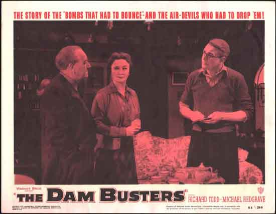 Dam Busters, The [ The Dambusters ] US Lobby Card number 2
