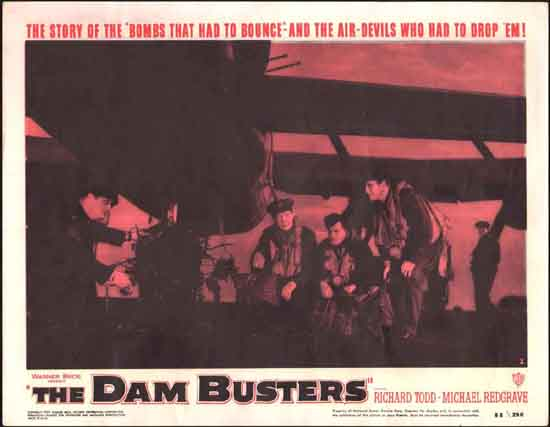 Dam Busters, The [ The Dambusters ] US Lobby Card number 3