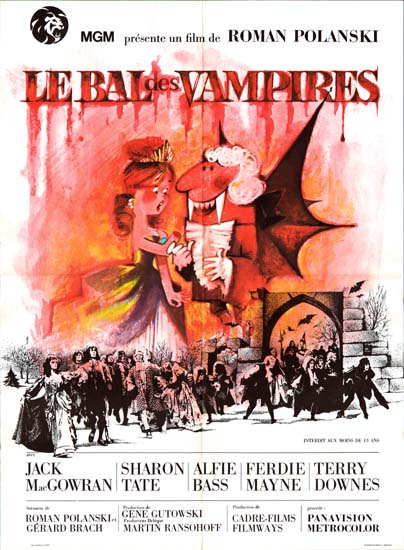 Dance of the Vampires [ The Fearless Vampire Killers ] French movie poster