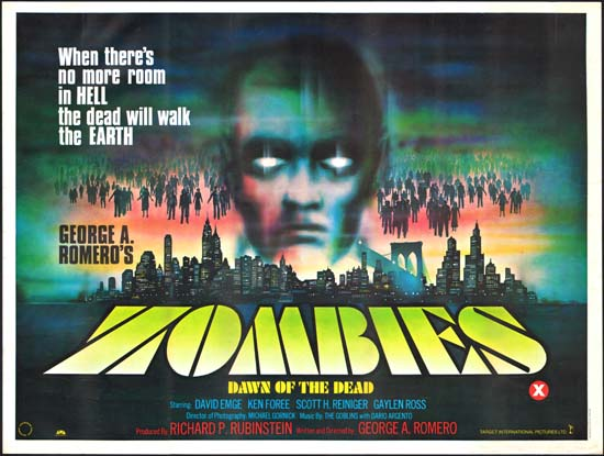 Dawn of the Dead [ Zombies Dawn of the Dead ] UK Quad movie poster