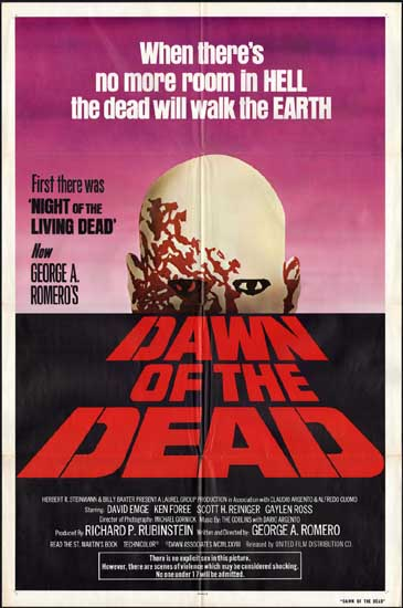 Dawn of the Dead US One Sheet movie poster