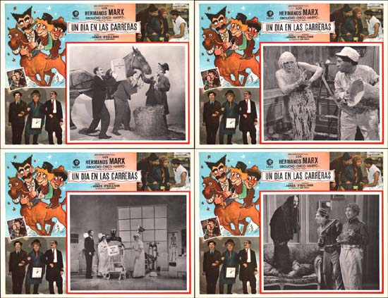 Day at the Races, A Mexican Lobby Card set of 8
