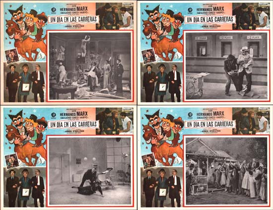 Image 2 of Day at the Races, A Mexican Lobby Card set of 8