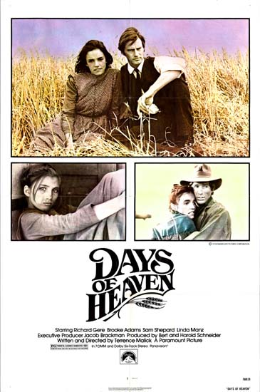 Days of Heaven US One Sheet movie poster
