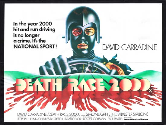 Death Race 2000 UK Quad movie poster