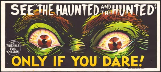 Dementia 13 [ The Haunted and the Hunted ] Australian Daybill advance movie poster