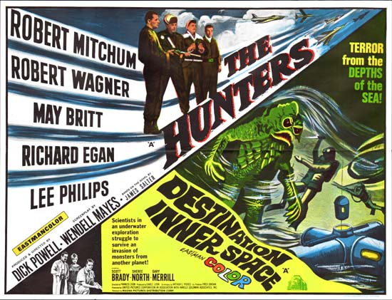 Destination Inner Space / Hunters, The UK Quad movie poster