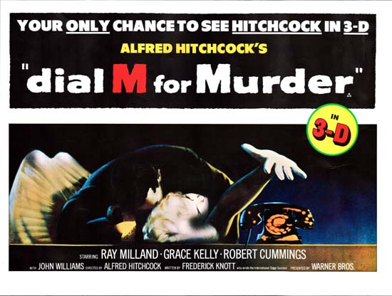 Dial M for Murder UK Quad movie poster