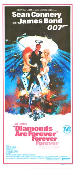 Diamonds Are Forever Australian Daybill movie poster