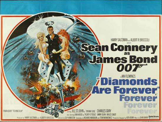 Diamonds Are Forever UK Quad movie poster