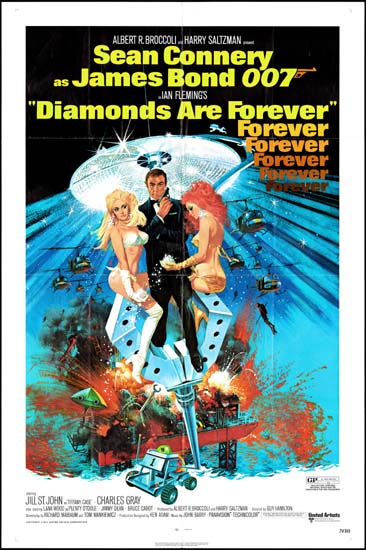 Diamonds Are Forever US One Sheet movie poster