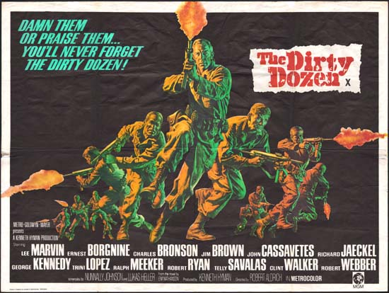 Dirty Dozen, The UK Quad movie poster
