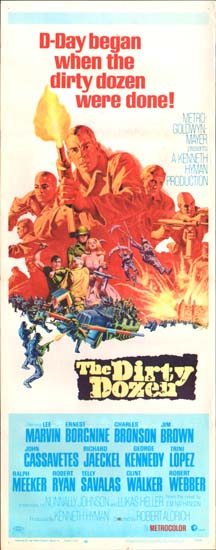 Dirty Dozen, The US Insert movie poster