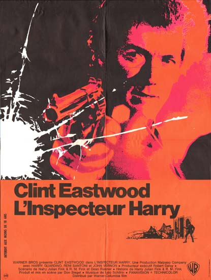 Dirty Harry French movie poster