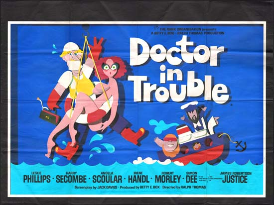 Doctor in Trouble UK Quad movie poster