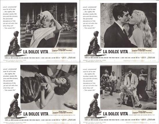 Dolce Vita, La US Lobby Card Set of 8