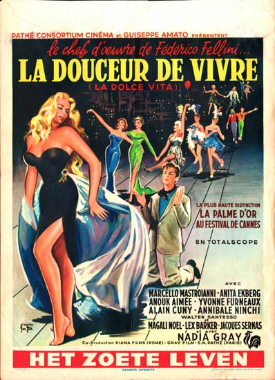 Dolce Vita, La Belgian movie poster