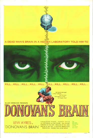 Donovans Brain US One Sheet movie poster