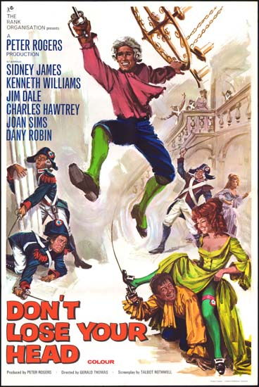 Carry On Don't Lose Your Head UK One Sheet movie poster