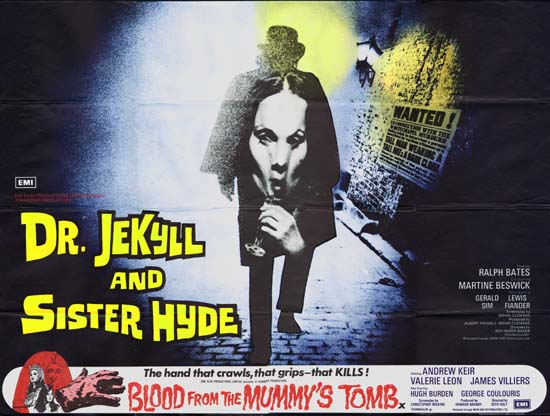 Dr Jekyll and Sister Hyde UK Quad movie poster