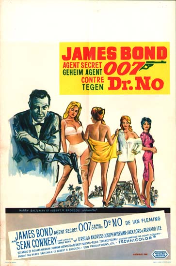 Dr No Belgian movie poster
