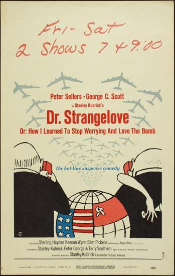 Dr Strangelove US Window Card movie poster