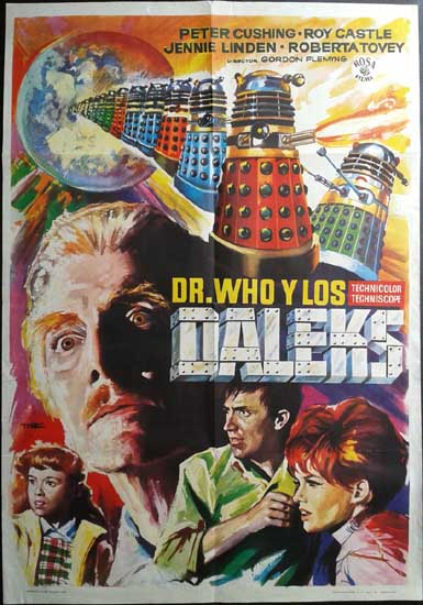 Dr Who and the Daleks Spanish One Sheet movie poster