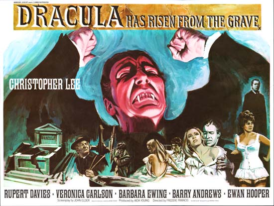 Dracula Has Risen from the Grave UK Quad movie poster
