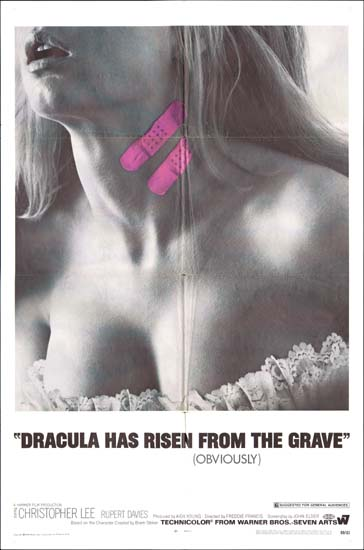 Dracula Has Risen from the Grave US One Sheet movie poster