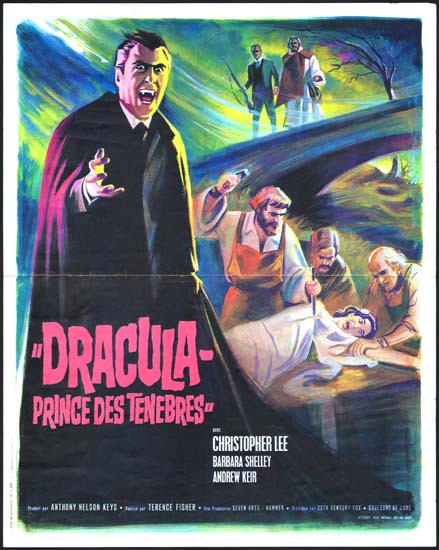 Dracula Prince of Darkness French movie poster